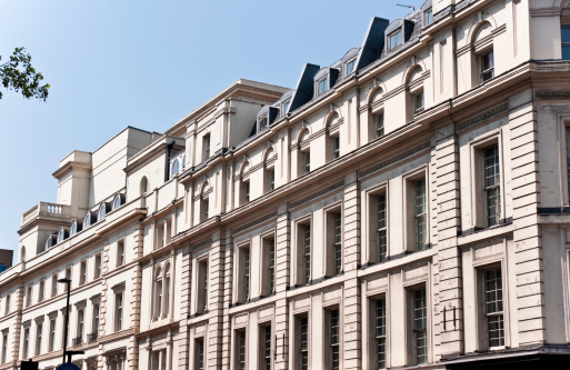 Oxford Street「London Architecture:  Classic Fassade in Sunny Afternoon」:スマホ壁紙(5)
