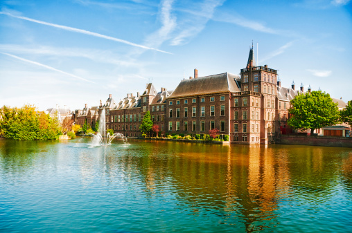 Circa 13th Century「The Dutch Parliament in The Hague, Netherlands」:スマホ壁紙(1)