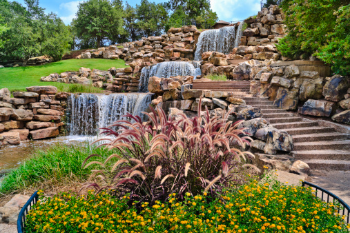 Water Garden「The Wichita Falls Waterfall, landmark, Texas」:スマホ壁紙(13)