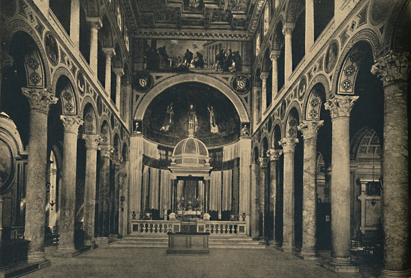 Basilica「Roma - Basilica Of St Agnes Outside The Walls On The Street Nomentana 1910」:写真・画像(19)[壁紙.com]