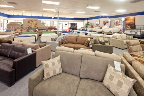 Furniture Store「Seating furniture and mattress displayed in store」:スマホ壁紙(9)