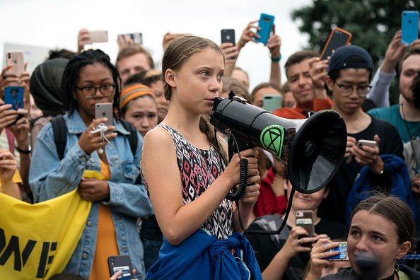 Washington DC「Teen Activist Greta Thunberg Joins Climate Strike Outside The White House」:写真・画像(13)[壁紙.com]