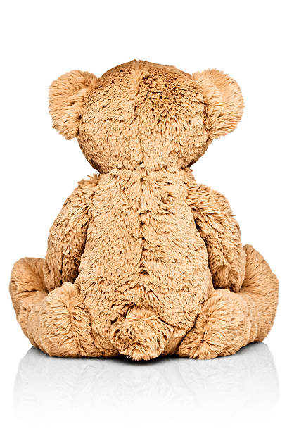 Child's teddy bear, rear view:スマホ壁紙(壁紙.com)