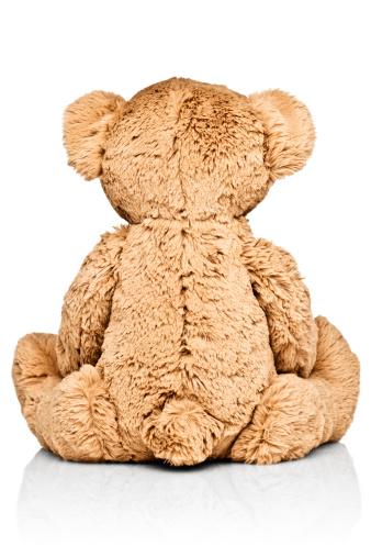 Stuffed Animals「Child's teddy bear, rear view」:スマホ壁紙(8)