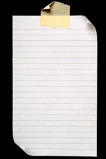 Sheet of lined blank note paper on black:スマホ壁紙(壁紙.com)