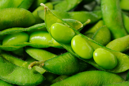 Bean「Opened fresh boiled green soybeans」:スマホ壁紙(4)