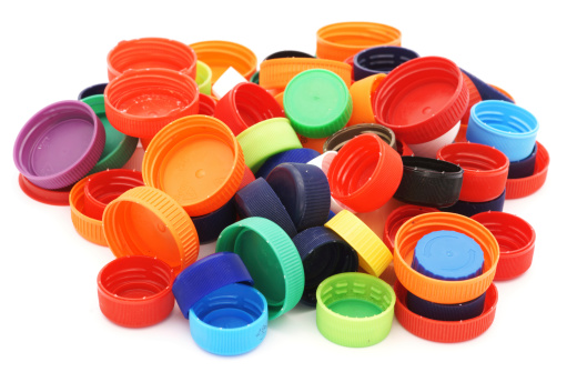 Bottle Cap「Colorful plastic caps pile isolated in white」:スマホ壁紙(16)