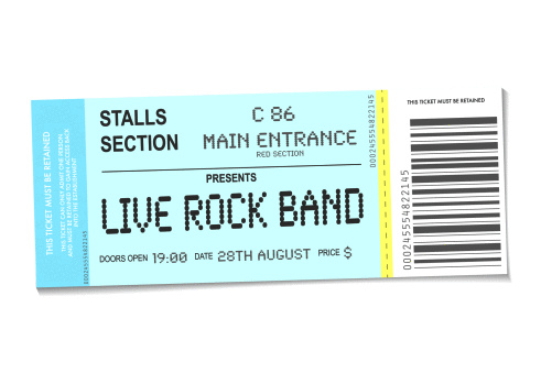 Vector「sample concert ticket with realistic look and date information」:スマホ壁紙(0)
