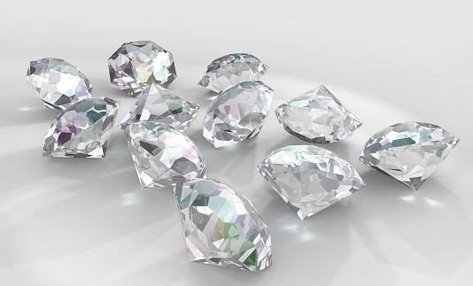 Crystal「Diamonds on white」:スマホ壁紙(2)