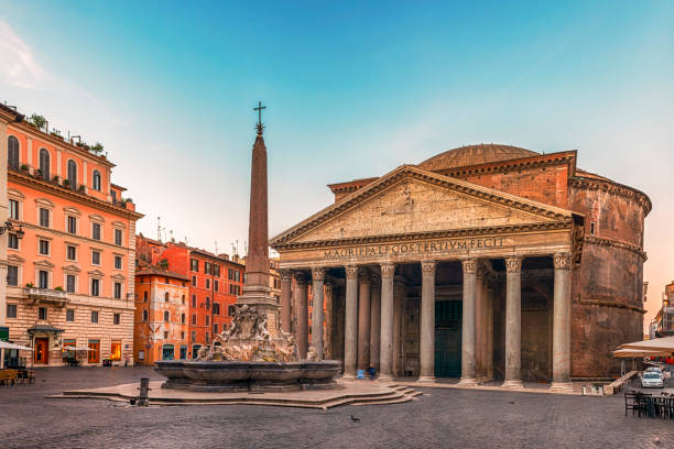 Pantheon and fountain in Rome:スマホ壁紙(壁紙.com)