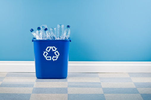 Wastepaper Basket「Recycling Container With Plastic Bottles」:スマホ壁紙(13)