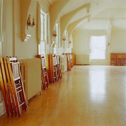 Ballroom「Ballroom Dance Floor with Chairs Stacked」:スマホ壁紙(13)