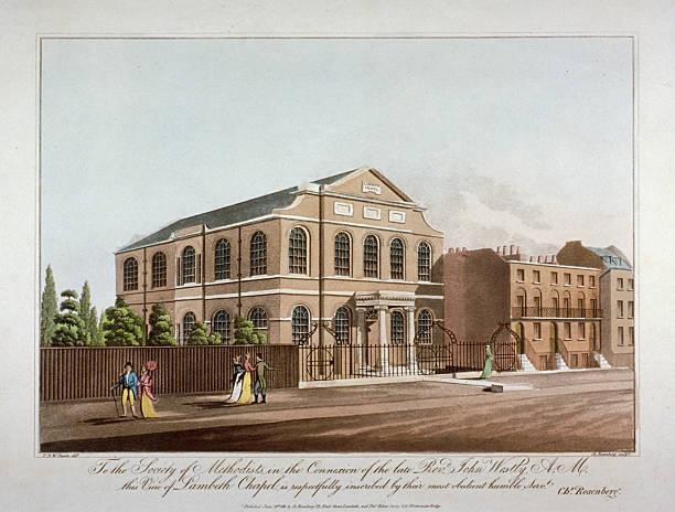 The Methodist chapel in Lambeth, London, 1816. Artist: C Rosenberg:ニュース(壁紙.com)