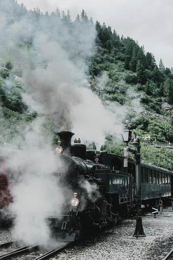 Passenger Train「Old-fashioned steam train in Swiss Alps」:スマホ壁紙(16)