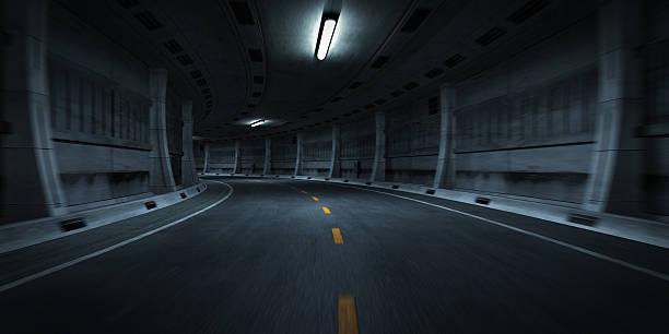 Curve in Road of Tunnel:スマホ壁紙(壁紙.com)