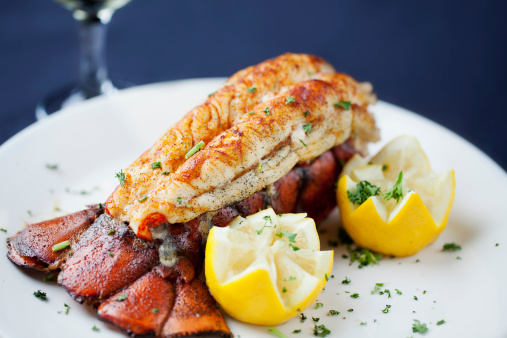 Lobster - Seafood「Large lobster tail served with white wine」:スマホ壁紙(16)