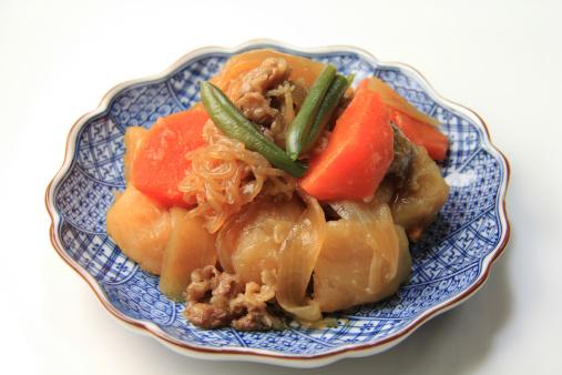 日本食「Nikujaga (Simmered meat and potatoes)」:スマホ壁紙(0)