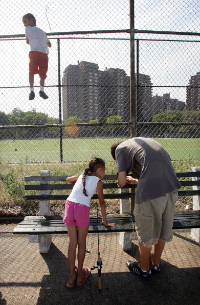 Bench「City Dwellers Learn To Fish On Manhattan Waterfront」:写真・画像(19)[壁紙.com]