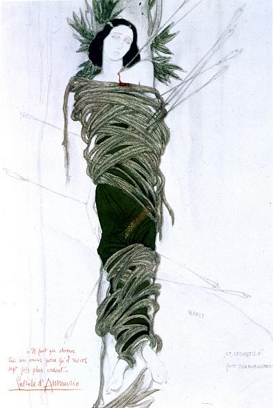 クレヨン「Costume design for Italian writer Gabriele D'Annunzio's drama The Martyrdom of St Sebastian, 1911. Artist: Leon Bakst」:写真・画像(12)[壁紙.com]