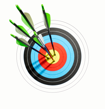 Sports Target「arrows throught the center of a bullseye target」:スマホ壁紙(4)