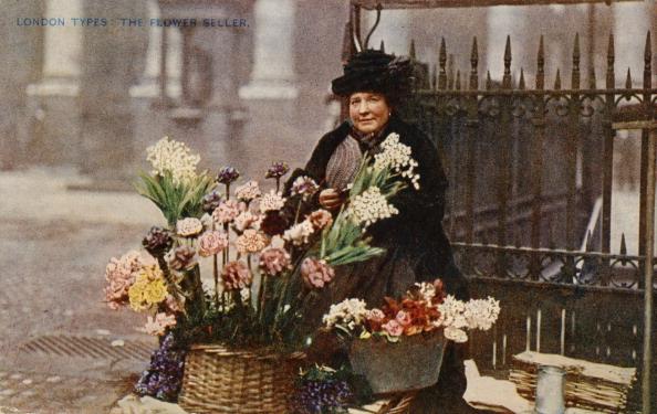 City Life「A flower seller at work, London」:写真・画像(8)[壁紙.com]