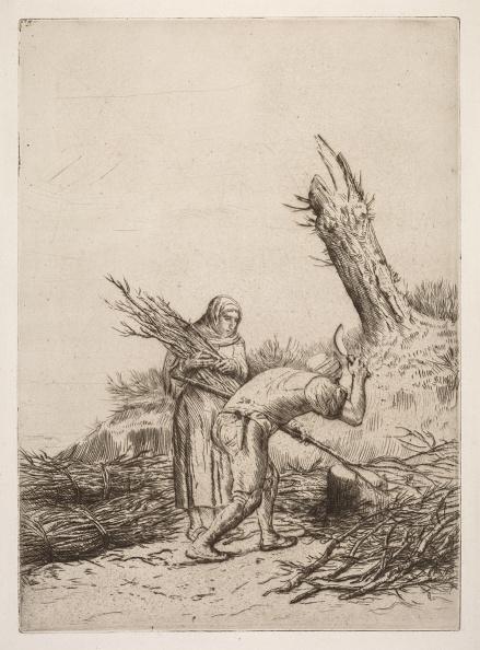 Etching「Les Faiseurs De Fagots. Creator: Alphonse Legros (French」:写真・画像(6)[壁紙.com]