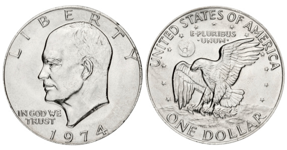 Moon「Eisenhower dollar on white background」:スマホ壁紙(17)