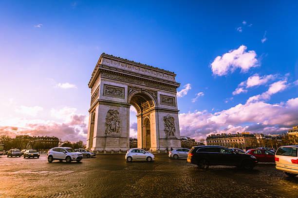 Traffic at Arc de Triomphe Paris:スマホ壁紙(壁紙.com)