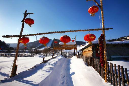 Chinese Lantern「Snow Village in Mudanjiang,Heilongjiang,China」:スマホ壁紙(8)