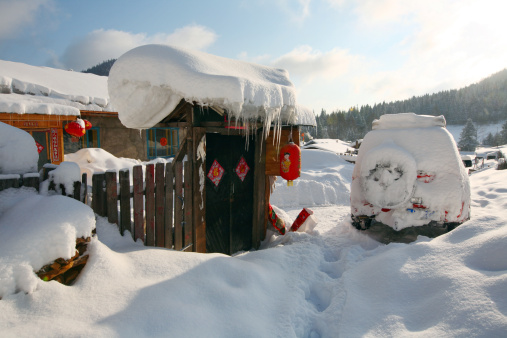 Chinese Lantern「Snow Village in Mudanjiang,Heilongjiang,China」:スマホ壁紙(15)