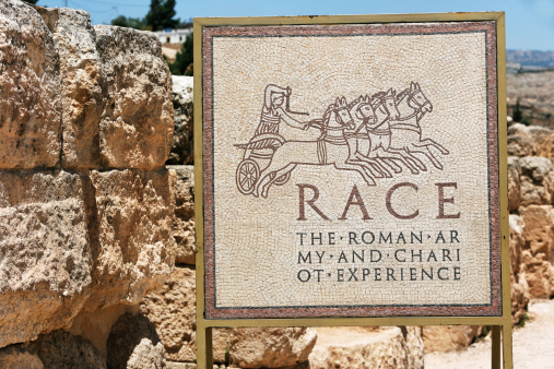 The Oval Piazza「Race tracks, Jerash, archeological site」:スマホ壁紙(15)