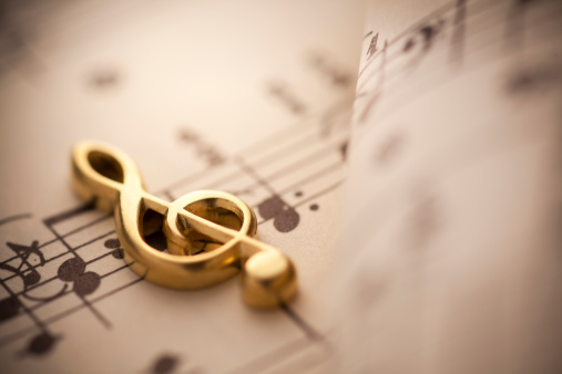 Sepia Toned「Close up shot of music notes」:スマホ壁紙(6)