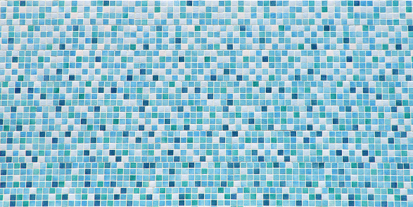 Mosaic「Blue and white bathroom tile background」:スマホ壁紙(0)