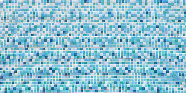 Blue and white bathroom tile background:スマホ壁紙(壁紙.com)