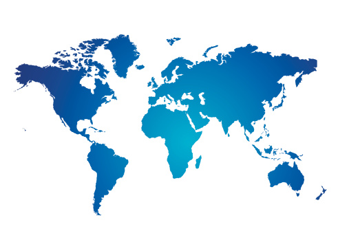 Template「Blue and white Illustrated world map with white background」:スマホ壁紙(13)