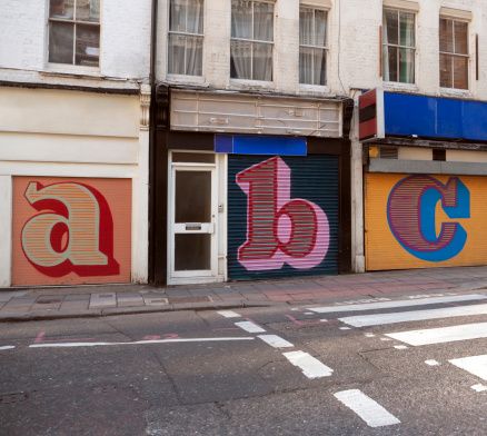 Arts Culture and Entertainment「Store shutters letters」:スマホ壁紙(4)