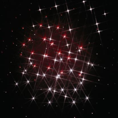 キラキラ「Twinkling cluster of lights, digitally generated」:スマホ壁紙(18)