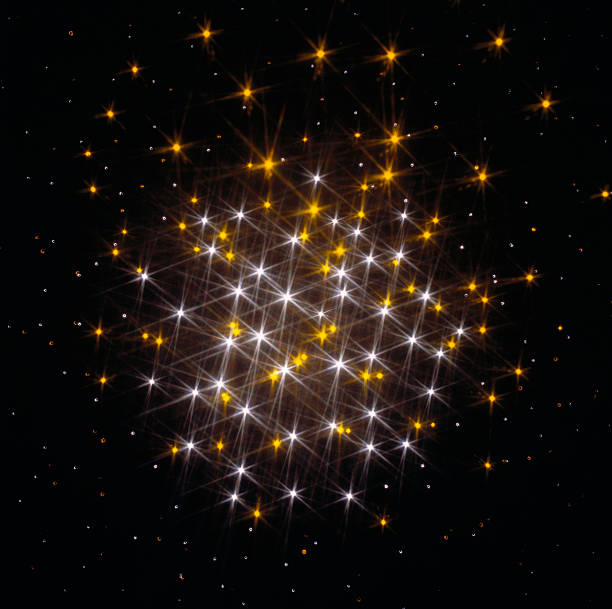 Twinkling cluster of lights, digitally generated:スマホ壁紙(壁紙.com)