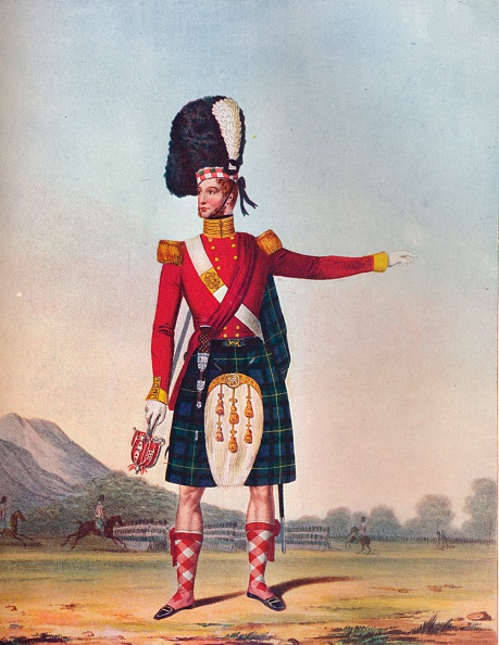 Rug「Officer of the 92nd Highland Regiment of Foot, c1833. (1914).」:写真・画像(8)[壁紙.com]