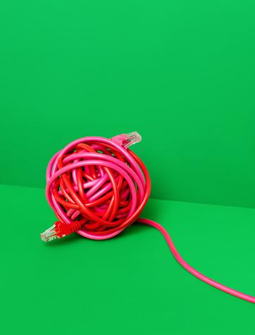Green Background「Wire Ball」:スマホ壁紙(16)
