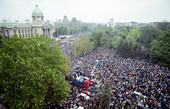 Belgrade - Serbia「Opposition Demonstrations in Belgrade Escalate」:写真・画像(16)[壁紙.com]