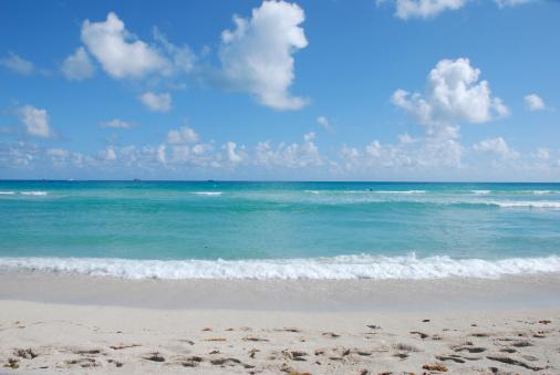 Miami Beach「海、砂、空にあるマイアミのサウスビーチ」:スマホ壁紙(12)