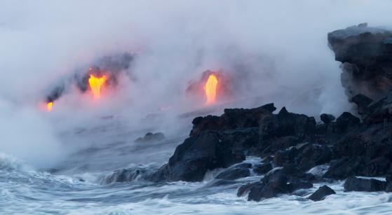 Active Volcano「Lava Ocean Entry」:スマホ壁紙(17)