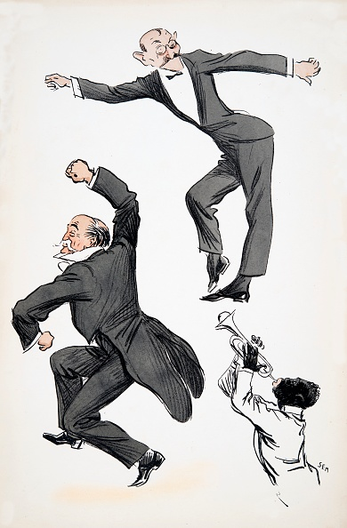 楽器「Elderly Gentleman In Tails And Younger Gentleman In Black Tie Dance To A Musician Playing Trumpet」:写真・画像(13)[壁紙.com]