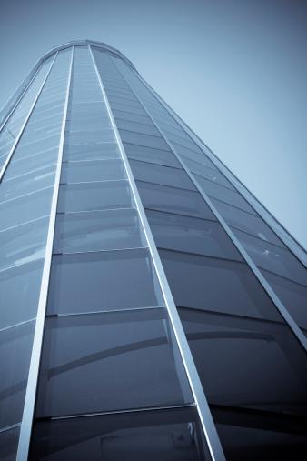 Postmodern「Modern Office Building Facade, Selenium Tone」:スマホ壁紙(15)