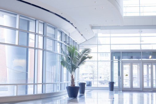 Corporate Business「Modern office lobby with glass wall」:スマホ壁紙(7)