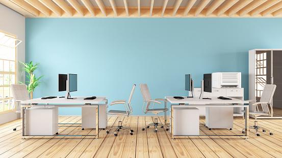 Chalk - Art Equipment「Modern Office with Desks」:スマホ壁紙(16)