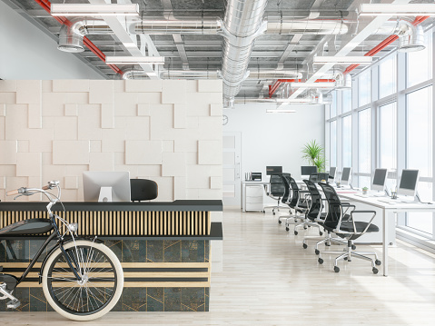 Checkout「Modern office reception area」:スマホ壁紙(3)