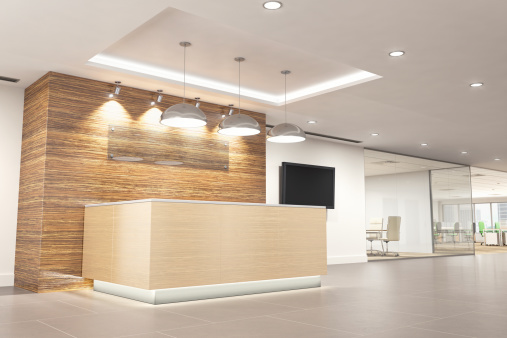Business「Modern Office Reception」:スマホ壁紙(9)