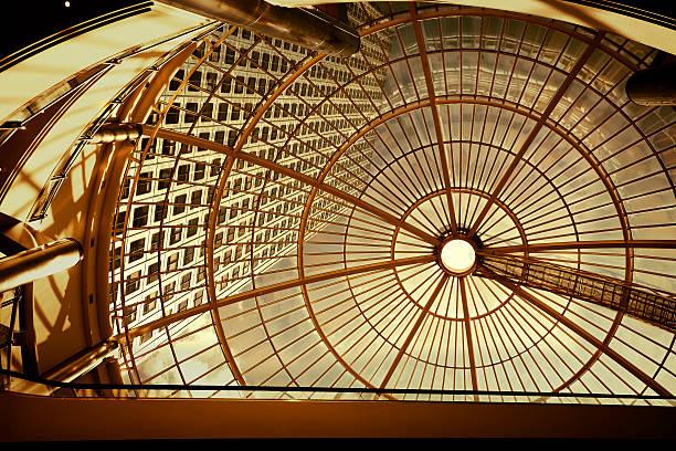 Modern Office Building Seen Through Glass Roof:スマホ壁紙(壁紙.com)